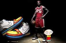 Tooned-Up Kicks - Nike Zoom LeBron IV Gets a 'Family Guy' Makeover