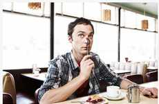 Quirky Diner Photography - Williams + Hirakawa Captures the Cast of 'Big Bang Theory'
