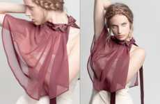 Sheer Romantic Bibs - The Marthe Aime Spring Summer Line Takes Baby Bibs to Another Level