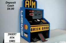 Toy Block Bank Machines - The LEGO ATM is a Solid Investment