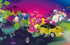 Blurred Colortastic Car Art