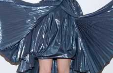 Draped Garbage Bag Dresses
