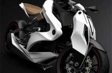 Tech-Savvy Motorcycles - The Izh-1 Motorcycle from Igor Chak Features Airbags & iPod Compatibility