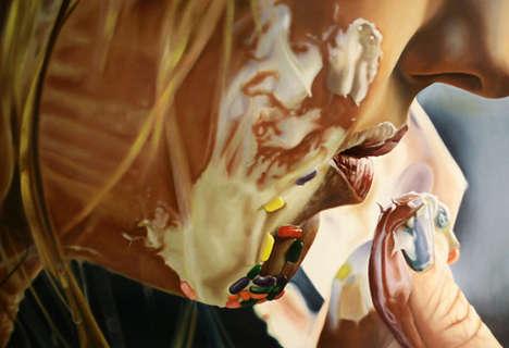 Sensuous Photorealistic Paintings