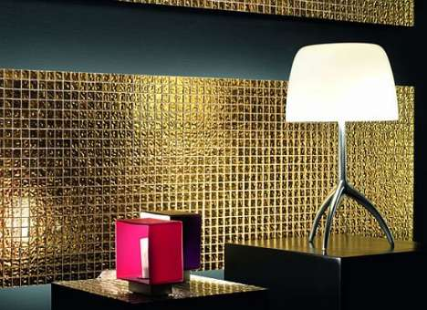 24K Gold Washrooms - The Mosaico Doro Collection Will Add Glamour to Your Bathroom
