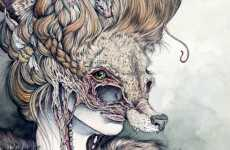 Animalistic Human Hybrids - Caitlin Hackett Explores the Relationship Between Man and Beast