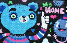 Cutesy Graffiti  - Art Collective Zetka Takes Gangster Tagging to Another Level
