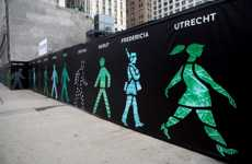 Crowdsourced Crosswalk Art - Maya Barkai Spruces up Construction Sites With 'Walking Men 99'