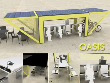The Oasis Public Shelter Lets You Recharge You and Your iPod's Energy