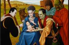 Monstrous Religious Art - Isabel Samaras Combines Faith and TV Humor
