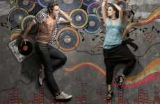 Interactive Chalk Backdrops - 'Allen Solly' by Nithin Rao is a Playful Fashion Shoot