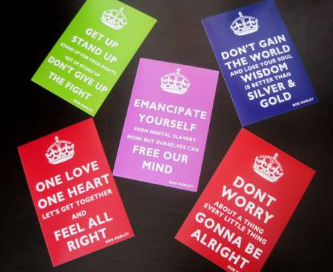 Positive Lyrical Postcards