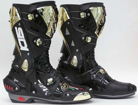 Golden Riding Boots