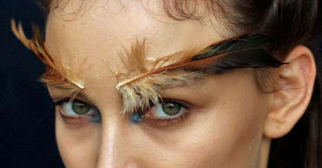 Wild Feather Eyebrows - Unique Face Transformations From Australia Fashion Week