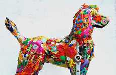 Recycled Toy Canines - Robert Bradford Transforms Children's Toys into Life-Sized Dogs