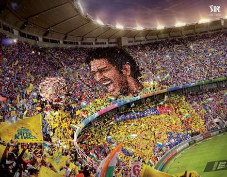 Giant Cricket Star Mosaics