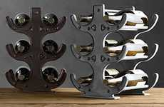 Industrial Wine Holders - The Factory Table Wine Rack Boasts Heavy Duty Bottle Protection
