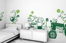 Fantasy Wall Stickers - Studio E-Glue Allows Your Child's Imagination to Go Wild