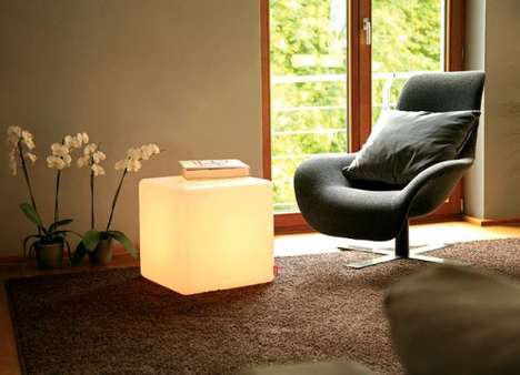 LED Ottomans - The Moree LED Cube is a Bright and Functional Piece of Furniture