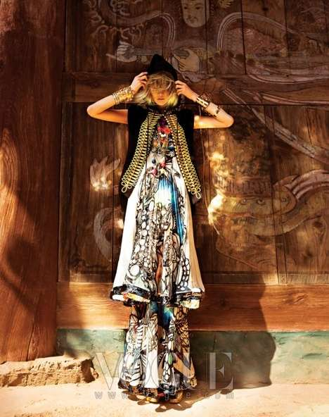 Mystifying Sorceress Shoots  - Lee Hye Jung Resembles a Modern Witch in Vogue Korea