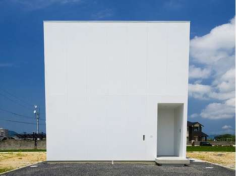 White Cube Homes - The Parallel House by Fumihito Hisanari is Simple and Chic