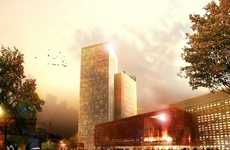 Mini City Hotel Plans - 'Counterpart' by Schmidt Hammer Lass Also Has Concert Hall & Shopping Mall