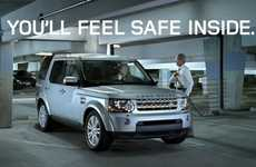 Sword-Safe SUVs - The Land Rover LR4 Sword Ads Show an Unconventional Danger