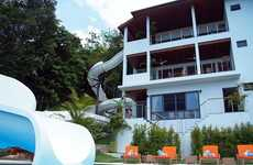 Jumbo Home Water Slides - Villa in Thailand Has a Double Looping 256-Foot Water Slide