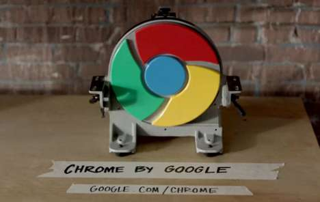 The Google Chrome Ad is Faster than the Speed of Light