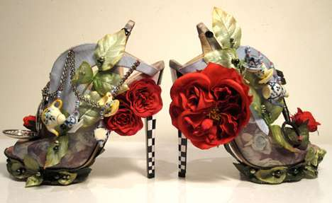 Wonderland Stilettos - Nicholas Kirkwood Haute Couture Shoes Are a Nod to the White Hare