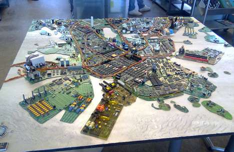 Mini Tech Cities - The Helsinki Motherboard City is Made to Scale