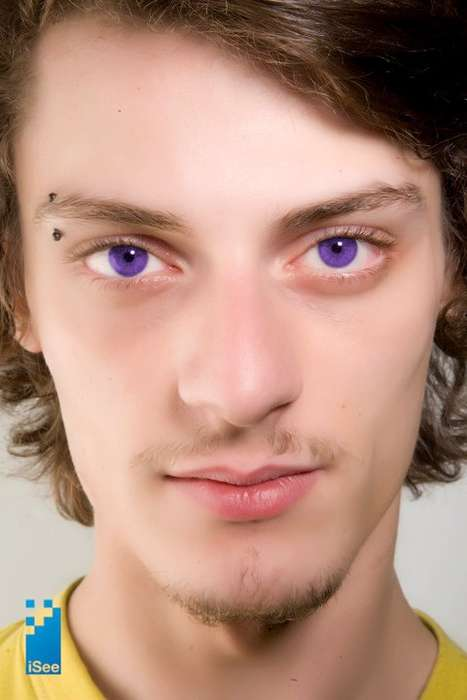 Spray-On Color Contacts