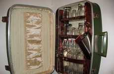 Booze Briefcases - The Upcycled Suitcase Liquor Cabinet is a Classy Conversation Piece