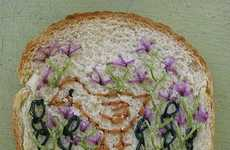 Embroidered Bread - Wonder Bread Embroidery Gets the Van Gogh Treatment