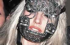 Jeweled Face Armor - Lady Gaga Rocks the Erickson Beamon Face Mask with Pride