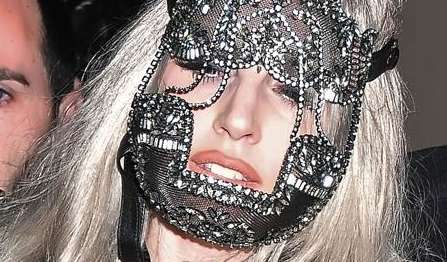 Lady Gaga Rocks the Erickson Beamon Face Mask with Pride