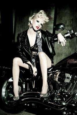 Biker-Chic Celebrity Shoots
