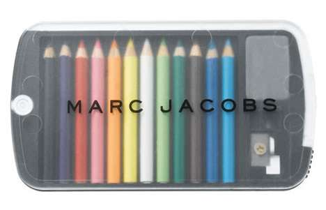 Designer Pencil Crayons - Marc Jacobs Bookmarc Collection is About Chic Stationery