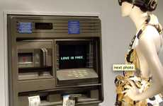 Cash-Cluttered Window Displays - The Moschino 'Love is Free' ATM Throws Money Around