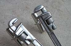 Handyman Mancessories - Pipe Wrench Cuff Links are Perfect for Plumbers