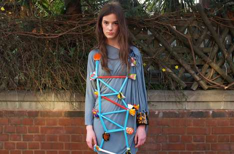 Arts & Crafts Fashion - The Fashion156 Juxtaposed Issue is a Bricolage of DIY-Looking Clothes