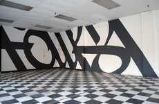 Typographic Graffiti Interiors - Faust Art in Brooklyn Features Artsy Black-and-White Scribbles