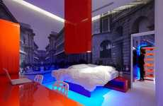 Neon Block Rooms - Simone Micheli Displays Fresh Designs at Milan Design Week 2010