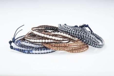 Wrapped Leather Bracelets