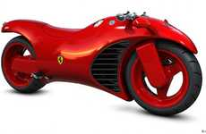 Fire Engine Luxury Bikes - The Ferrari Motorcycle is Red Hot