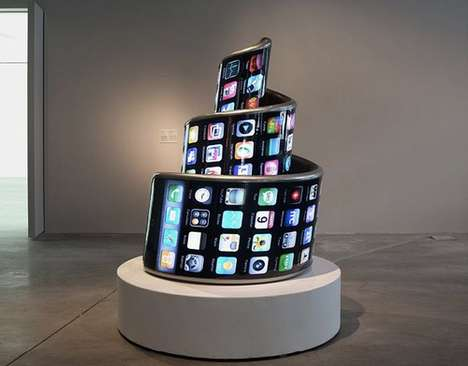 Spiraling Phone Sculptures