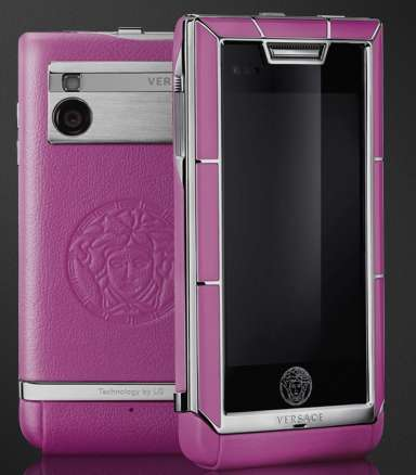 Designer Touchscreen Mobiles - The Versace 'Unique' Phone Features a Giant Sapphire Screen