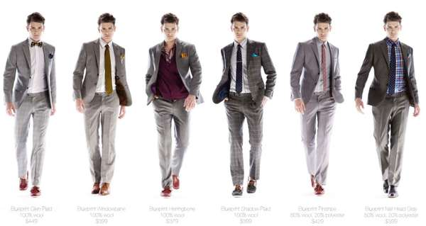 Color-Pop Suits : Indochino Blueprint Collection