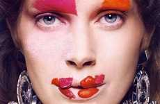 Sloppy Cosmetics - 'Particules Elementaires' for Vogue Paris Features Intentionally Chaotic Makeup