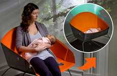 Transforming Baby Beds - The Lunar 'Koo' Converts from Bassinet to Rocker for Easy Feeding